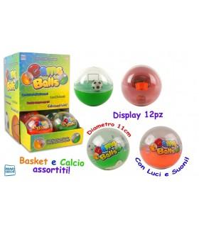 Game Balls gioco portatile Basket e Calcio Display 12 pz.