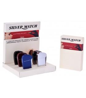 Accendino Elettronico Silver Match Expo da 6 pz. colori assortiti