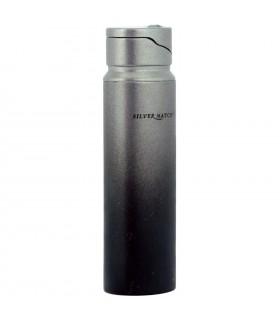 Accendino Silver Match Turbo Blu Flame colore nero  confezionato in elegante scatola da regalo