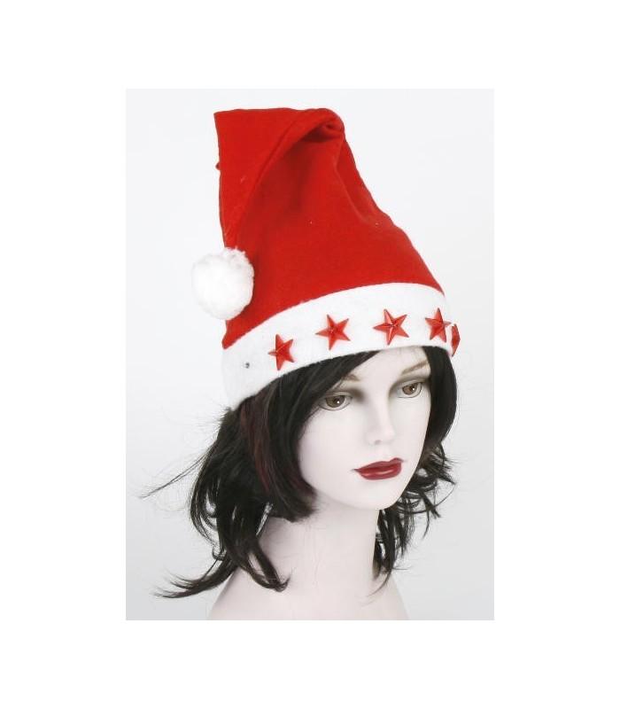 Cappello Babbo Natale con 5 Stelle a Led Lampeggianti - La Suprema srl 6f2b11bdb808