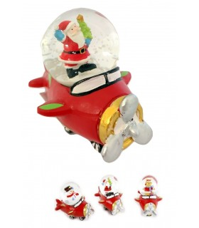 Statuina di Natale con Globo con Neve  Disponibile in 3 modelli