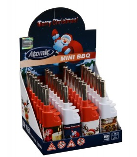 Accendigas Atomic Mini di Natale conf. da 28 pz. assortiti in 4 Fantasie
