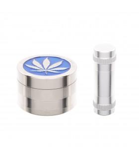 Grinder in Metallo Atomic 4 Parti con Pressatore in Alluminio