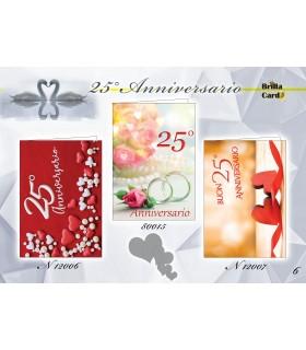 Biglietto Brillacard Compleanno 3D conf. 12 pz. assortiti