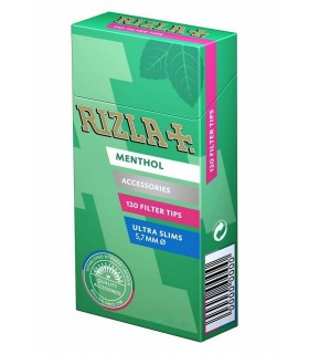 Filtri Rizla Poppatips al Mentolo 5.7mm conf. 20 astucci da 120 filtri