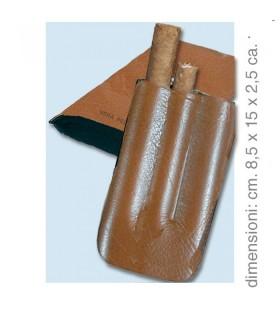 Portasigari Colton similpelle da 3 pz. + tagliasigari in metallo