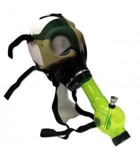 Maschera Antigas Camouflage in Silicone con Tubo in Acrilico per Narghilè