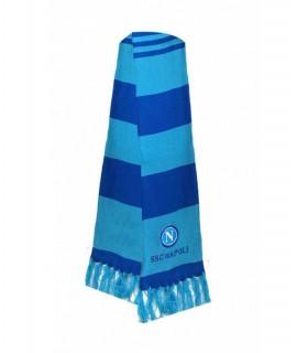 Sciarpa Tubolare SSC Napoli con Strisce Blu e Azzurre