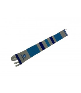 Sciarpa tubolare SSC Napoli a righe Beige Blu e Azzurre