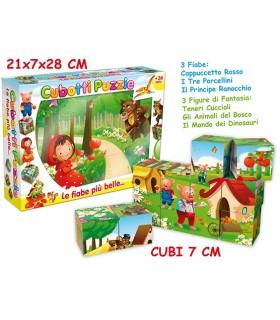 Cubotti Puzzle Fiabe Italiane 7 pezzi