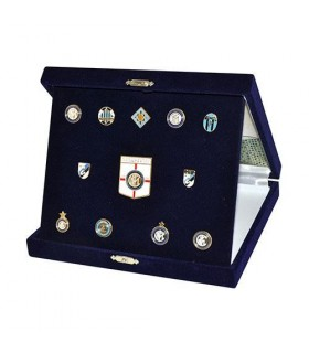 Elegante cofanetto Regalo FC Inter con Spille in metallo smaltate a mano