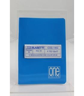 Mini Quaderno One Color rig.1r formato 12x17cm colori assortiti conf. 10 pz.