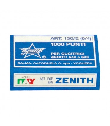 Punti per Cucitrice Zenith 130/E conf. 10 scatole da 1000 punti