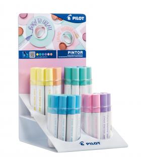 Pennarello Pilot Pintor Pastel Expo da 48 pz. colori assortiti