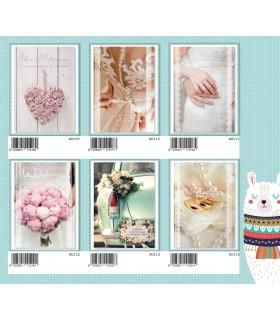 Biglietto Marpimar Matrimonio portasoldi con glitter conf. 12 pz. assortiti