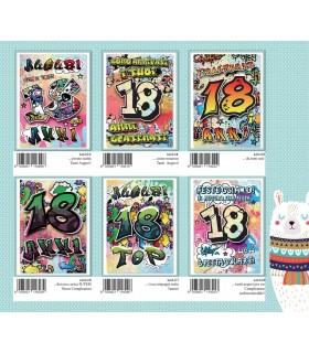 Biglietto Marpimar Compleanno 18 Anni conf. 12 pz. assortiti