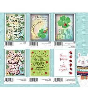 Biglietto Marpimar Compleanno Portafortuna con glitter conf. 12 pz. assortite