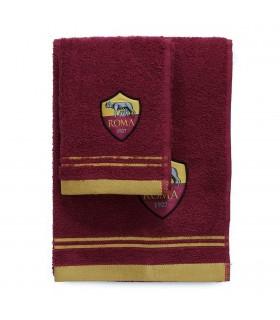 Asciugamano MEdio + Ospite As Roma in cotone