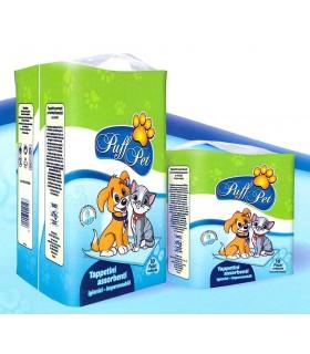 Tappetini per Animali Puff Pet mis. 60x60 cm conf. da 10 pz.