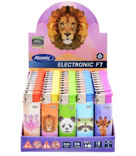 Accendino Elettronico Atomic Animals  conf. 50 pz. assortiti con 5 fantasie