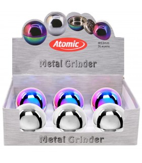 Grinder Atomic in Metallo 3 Parti Expo 6 pz. assortito con 2 colori