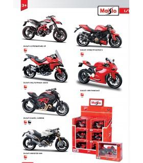 Moto Stradali Ducati Maisto Scala 1:18 Expo da 18 pz. Modelli assortiti
