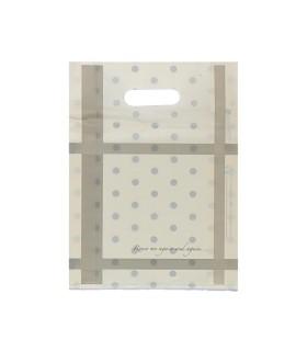 Shoppers con manico a fagiolo Mod.Charlotte Mis.25x35 cm in plastica conf.50 pz.