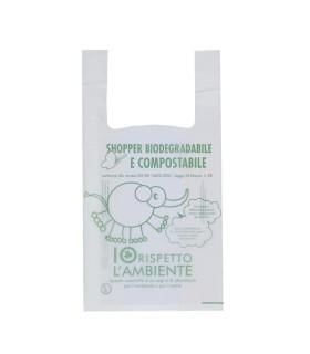 Shoppers Biodegradabili Basiliotti Mis. 60 x 50 cm cartone da 500 buste