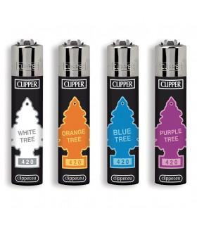 Accendino Clipper Large Color Trees conf. 48 pz. assortito con 4 grafiche