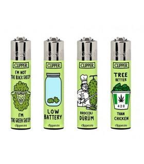 Accendino Clipper Large Think Green conf. 48 pz. assortito con 4 grafiche