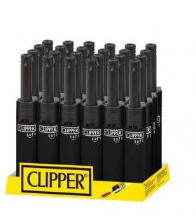 Accendigas Mini Clipper Soft Black conf. 24 pz. monocolore