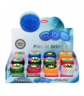 "Grinder Atomic in Plastica ""Maria"" 2 Parti conf. 24 pz. assortito con 6 colori"