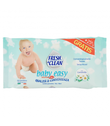 Salviette Umidificate Fresh&clean Baby Easy 60 pz.