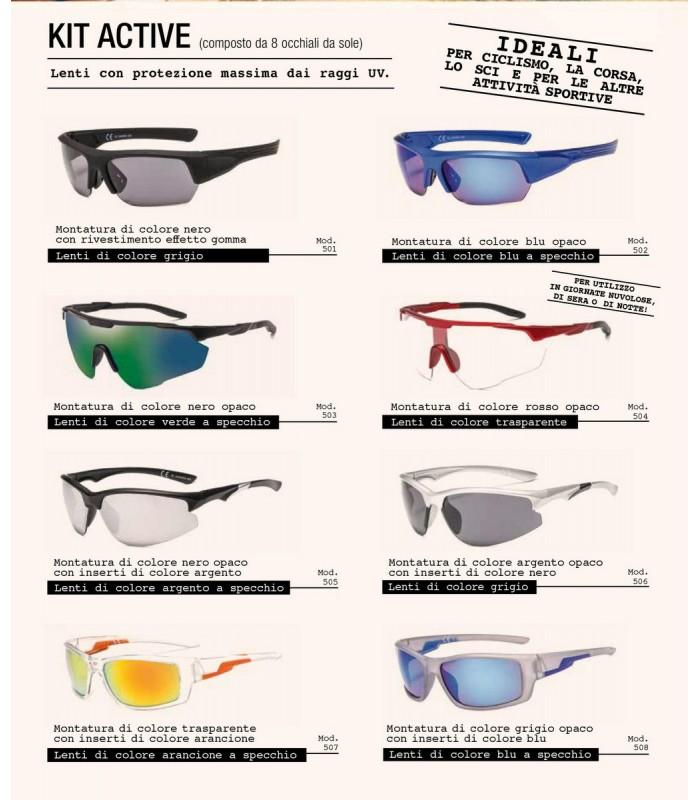 Occhiali da Sole El Charro Kit Active Expo da 8 pz. modelli assortiti