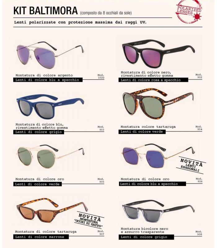 Occhiali da Sole El Charro Kit Baltimora Expo da  8 pz. modelli assortiti