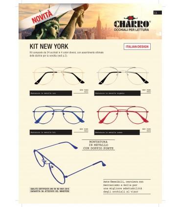 Occhiali da Lettura El Charro Mod. New York Expo da 24 pz. assortito con 4 colori