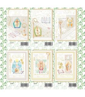 Biglietto Marpimar Cresima portasoldi con Glitter conf. 12 pz. assortiti