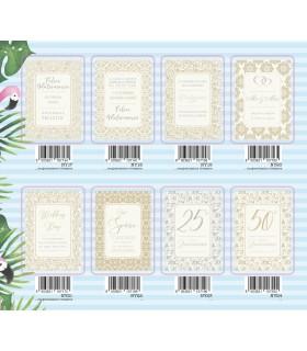 Biglietto Marpimar Matrimonio con Foil conf. 12 pz. assortiti