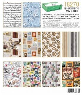 Carta Regalo Kartos Fantasia Maschile conf. 100 fogli assortiti in 10 soggetti