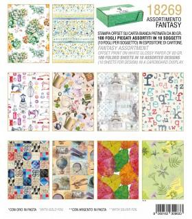 Carta Regalo Kartos Fantasia Fiori conf. 100 fogli assortiti in 10 fantasie