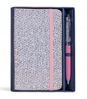 Set Regalo Niji Penna Touch + Notes 9x14 cm con Elastico Disponibile in 4 colori