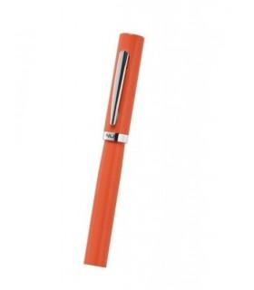 """Penna Niji in Metallo cromato e Laccato Mod. """"Gioia"""" colore arancio"""
