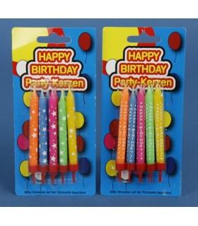 Blister Candele Happy Birtday Disponibile in due grafiche come da foto
