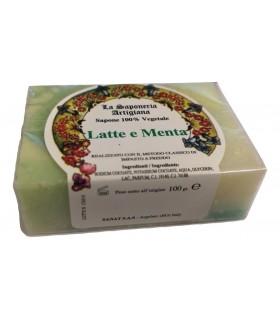 Saponetta Naturale Vegetale Latte e Menta 100g
