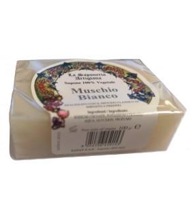 Saponetta Naturale Vegetale Muschio Biancoa 100g
