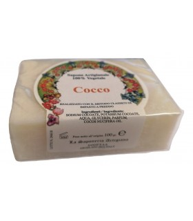Saponetta Naturale Vegetale Cocco 100g