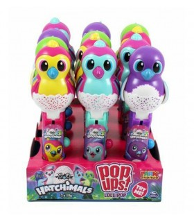 LOLLIPOP HATCHIMALS 10G EXPO 12 PZ. ASSORTITO CON 3 PERSONAGGI