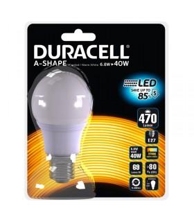 Lampadina Duracell a Led Passo grande E27 Potenza 6.8 Watt  Resa 40 Watt