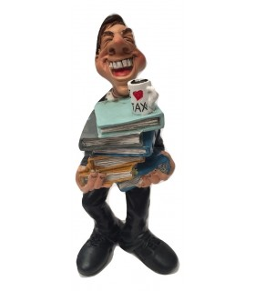 "Caricature Mestieri ""Ragioniere Commercialista"" H. 15 cm"