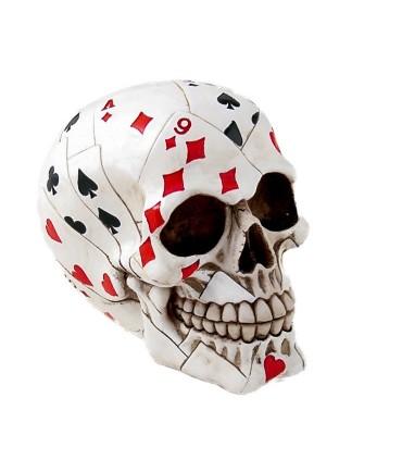 Statua in Resina Teschio Poker 16 cm